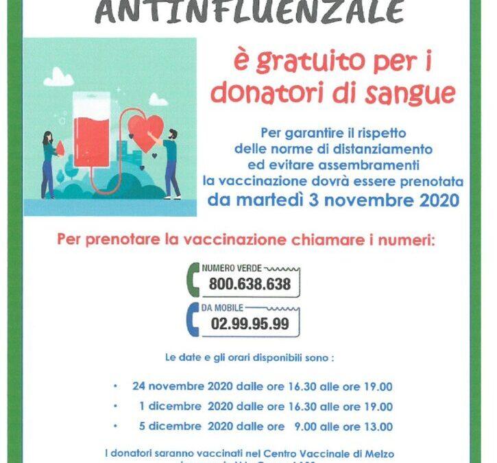 Vaccinazione antinfluenzale per i donatori
